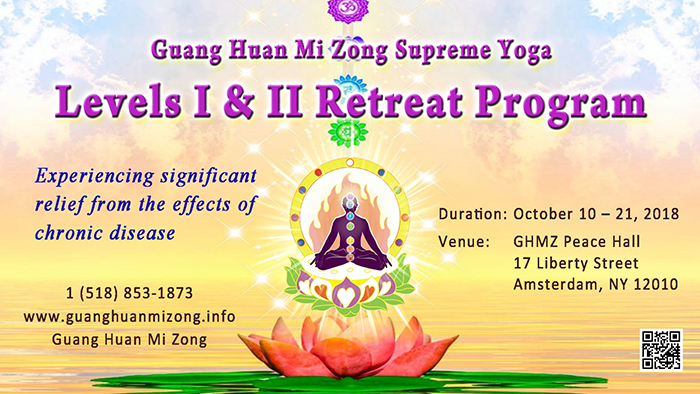 Levels I & II Retreat Program @ GHMZ Peace Hall | Amsterdam | New York | United States